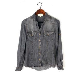 Cloth & Stone xs shirt button up tencel denim wash